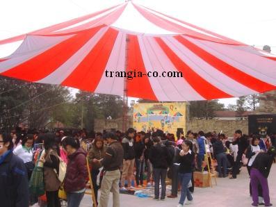 Tổ chức sự kiện Trần Gia - Nhà dù có cột trụ sắt cao 10m